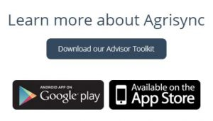 Find the button at the bottom of the AgriSync home page.