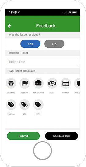 AgriSync Categorize Tag Tickets
