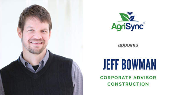 AgriSync Expands into Construction with Appointment of Jeff Bowman