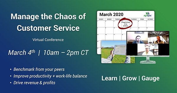 Virtual Conference for Ag Professionals in Customer Service Announced