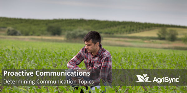 Determining Your Proactive Communication Topics