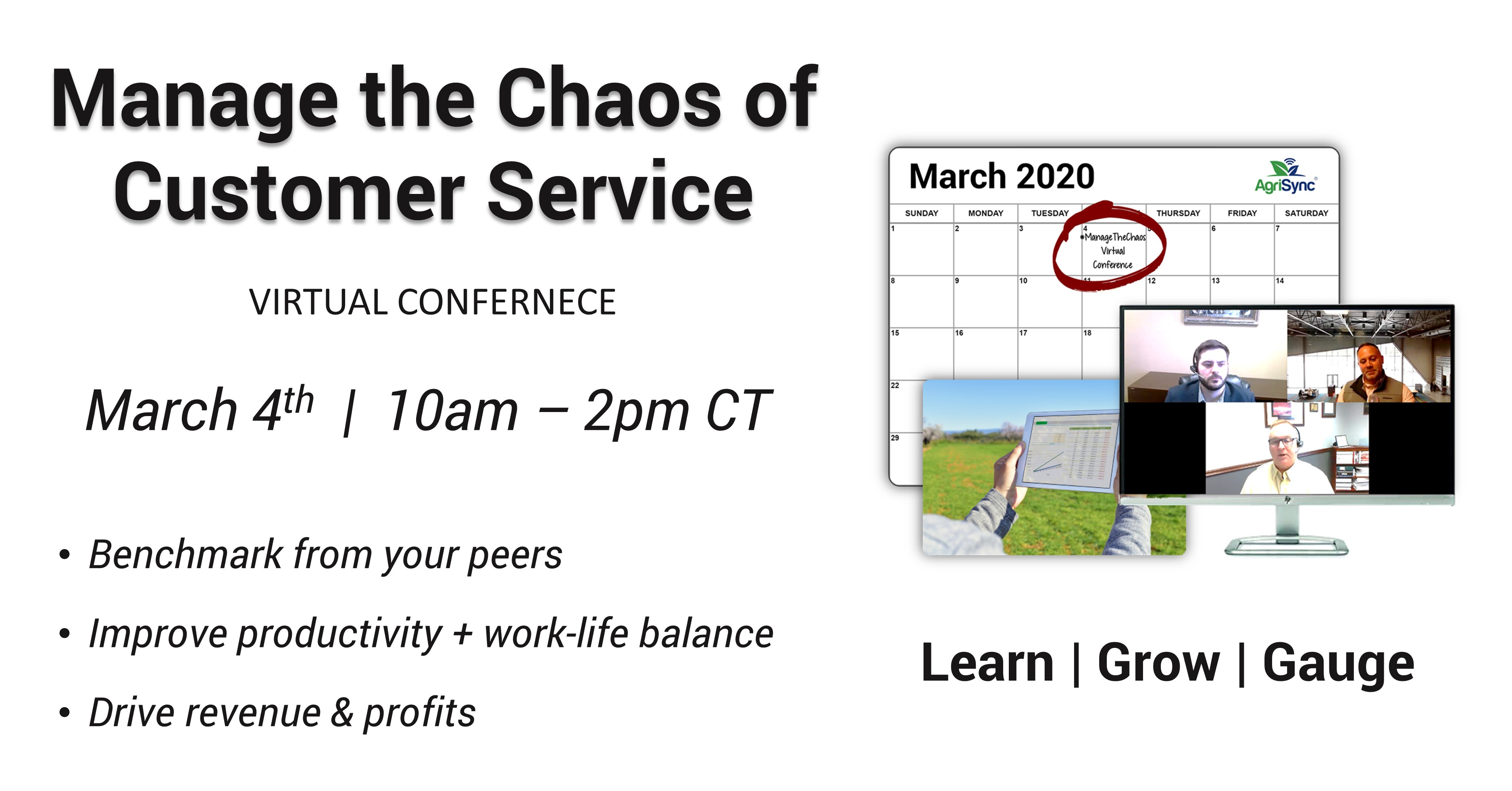 Manage the Chaos of Customer Service Virtual Conference Registration