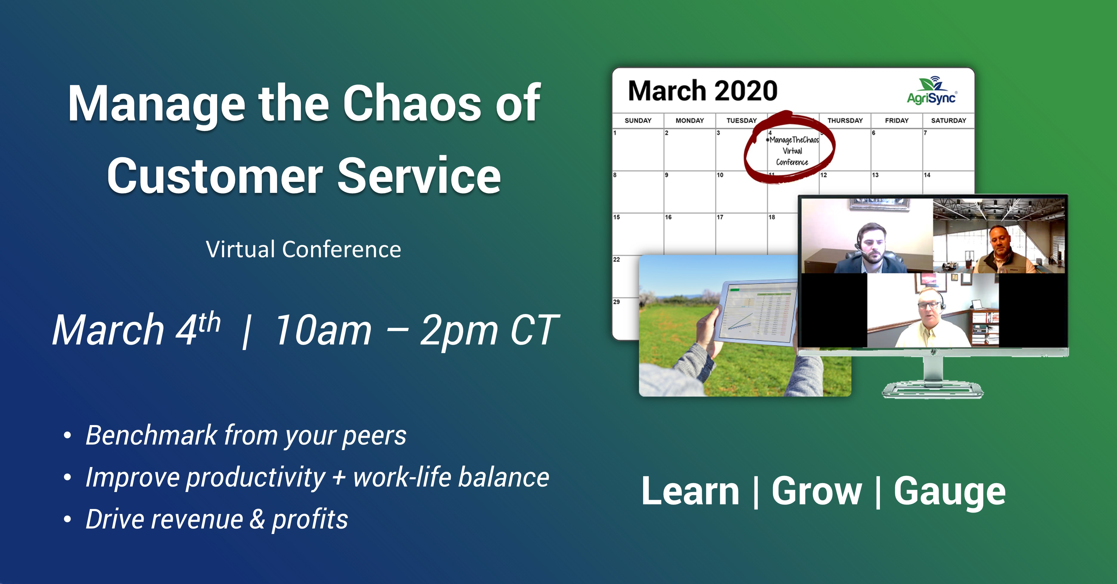 Virtual Conference for Ag Professionals in Customer Service Announced for March 4th